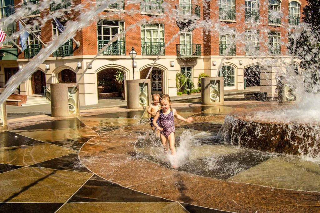 Family Can Travel - 48 Hours in Charleston South Carolina with Kids - a great splash park at Waterfront Park near Queen Street entrance