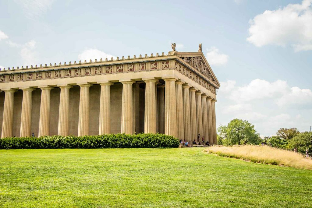 best family road trip destinations - Nashville with Kids - Full Size Replica Parthenon