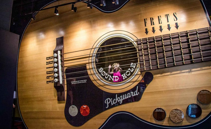 Family Can Travel - A Day in Nashville with Kids - Giant Guitar at the Country Music Hall of Fame