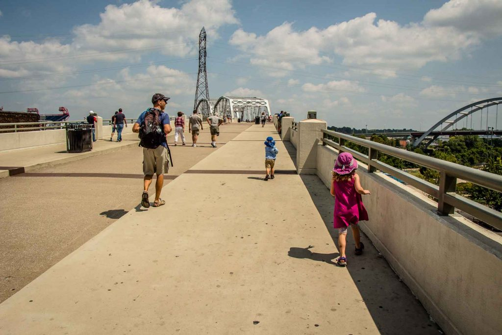 Family Can Travel - A Day in Nashville with Kids - John Seigenthaler Pedestrian Bridge