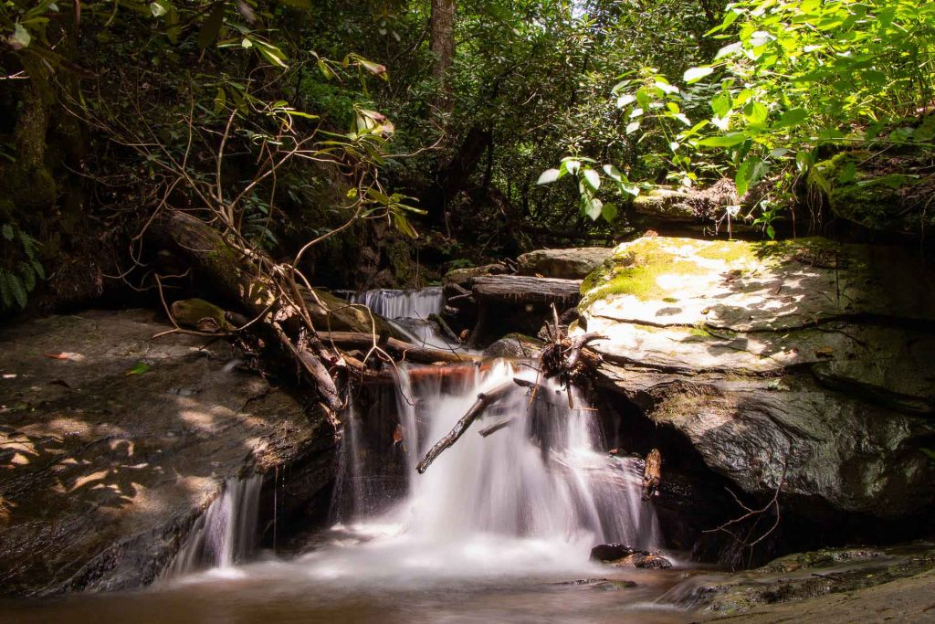 Blue Ridge Parkway road trip with kids  - Gully Creek Trail waterfall
