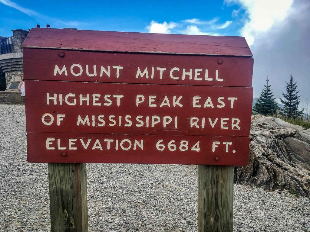 Best Blue Ridge Parkway hikes - Mount Mitchell - highest point east of the Mississippi - 6684 feet