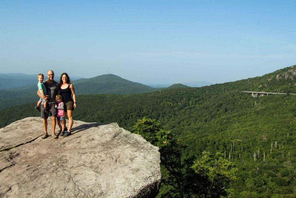 kid-friendly hikes on Blue Ridge Parkway - Rough Ridge trail