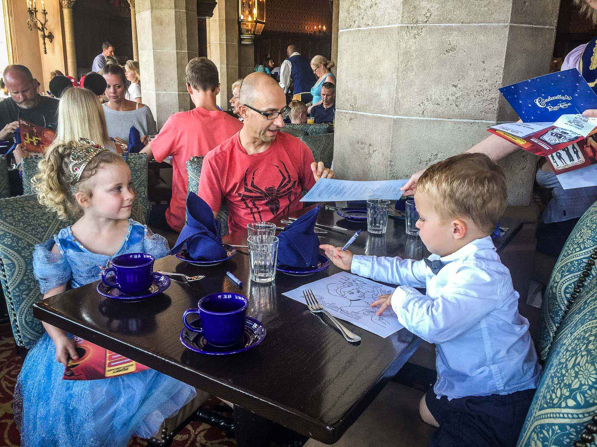 Family Can Travel - Things I Did't Know about Visiting Magic Kingdom - Enjoying a family breakfast at Cinderella's Royal Table