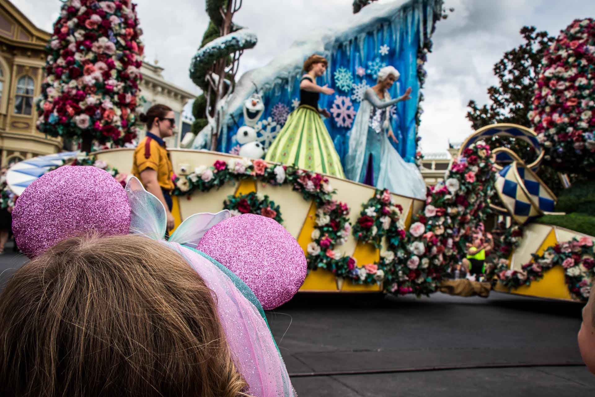 Family Can Travel - Things I Did't Know about Visiting Magic Kingdom - Front Row Disney Parade Seats - Disney Festival of Fantasy Parade Dining Package