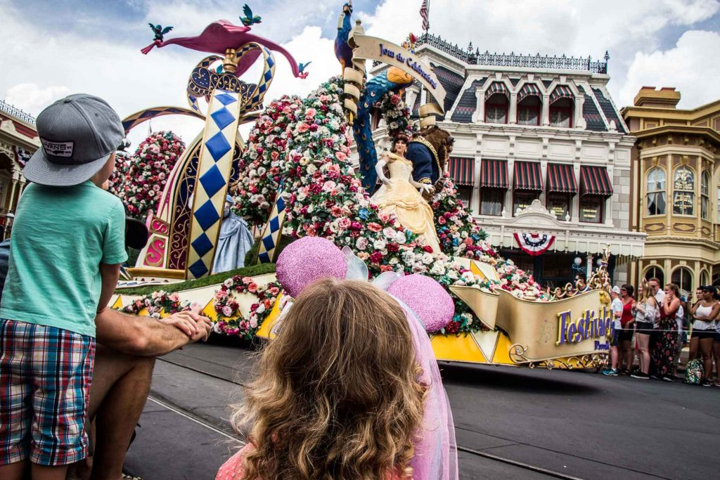 best Princess Experiences at Disney World - VIP seats for the Festival of Fantasy Parade