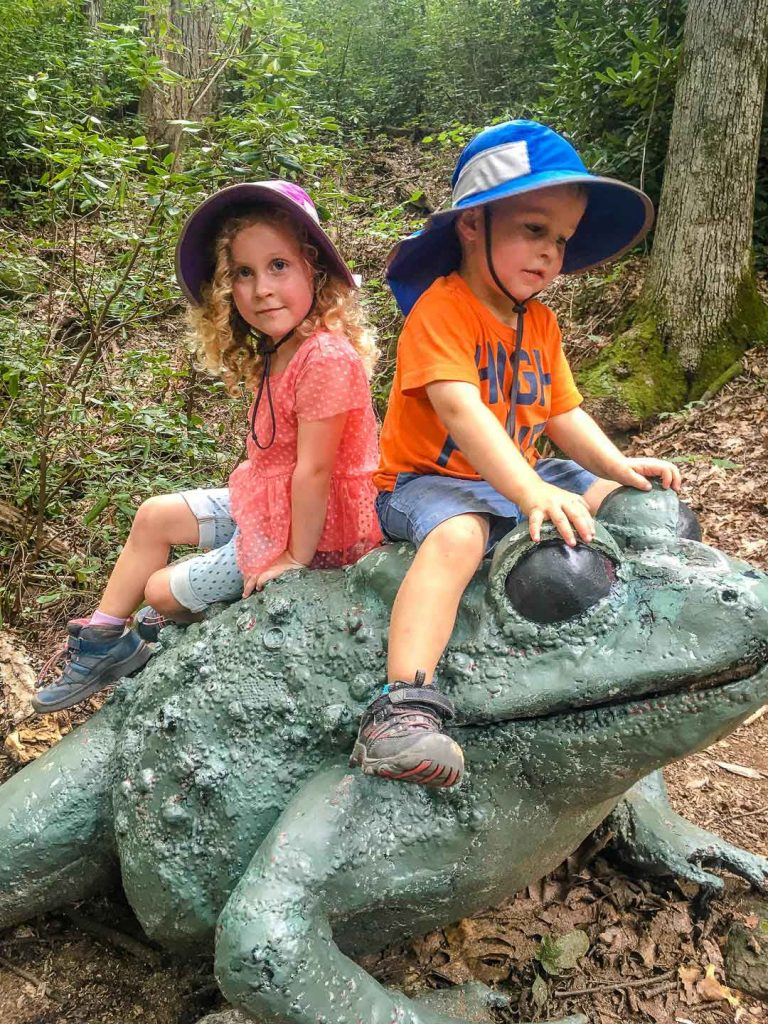 best family road trip destinations -Asheville, NC with Kids - Chimney Rock State Park - Great Woodland Adventure