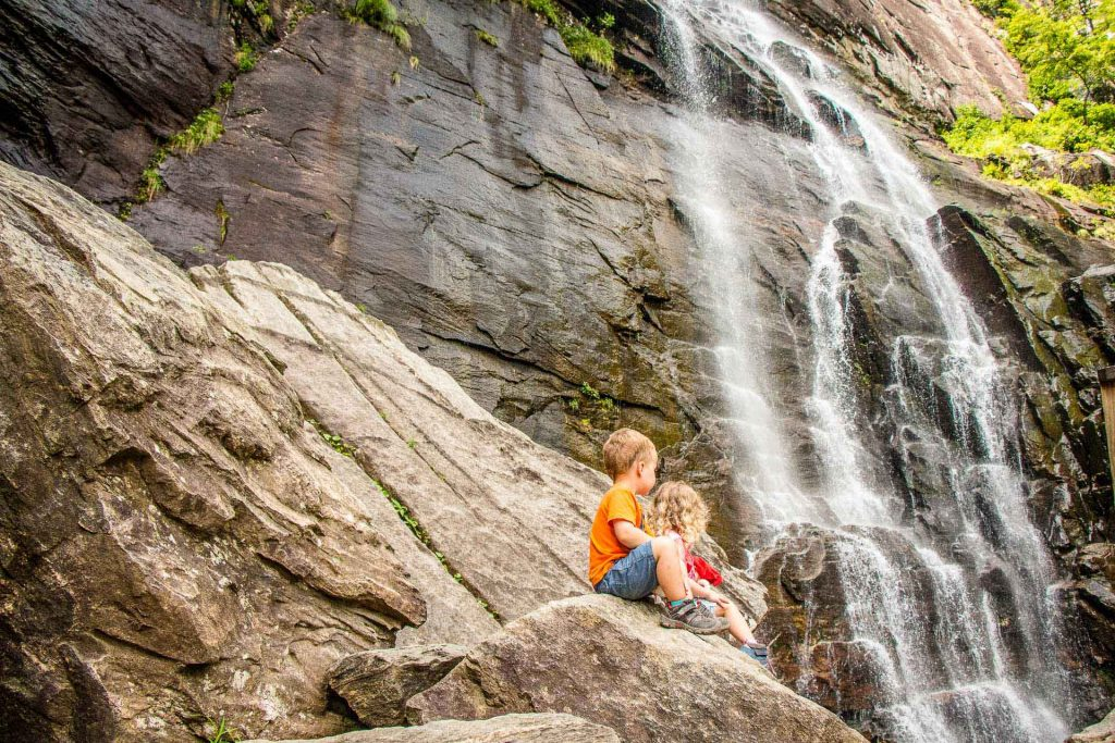 Family Can Travel - Three Days of Hiking Around Asheville, NC with Kids - Chimney Rock State Park - Hickory Nut Falls Trail (1)