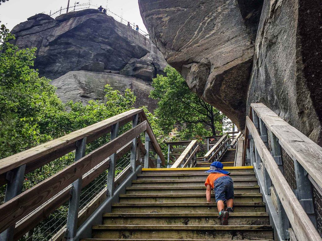 Family Can Travel - Three Days of Hiking Around Asheville, NC with Kids - Chimney Rock State Park - Outcroppings Trail (1)