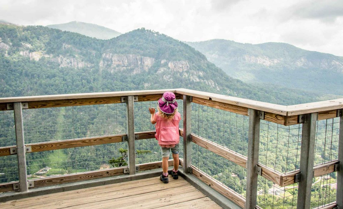 Family Can Travel - Three Days of Hiking Around Asheville, NC with Kids - Chimney Rock State Park - Outcroppings Trail (5)