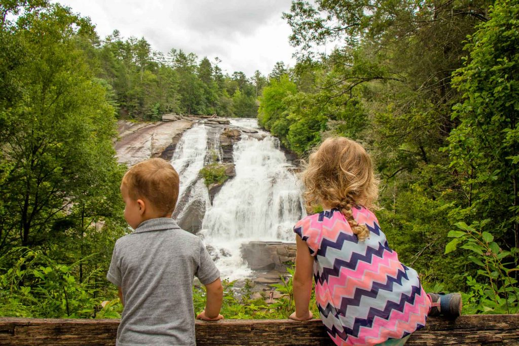 southern usa road trip planner - Asheville, NC with Kids - Dupont State Forest - Triple Falls Hike