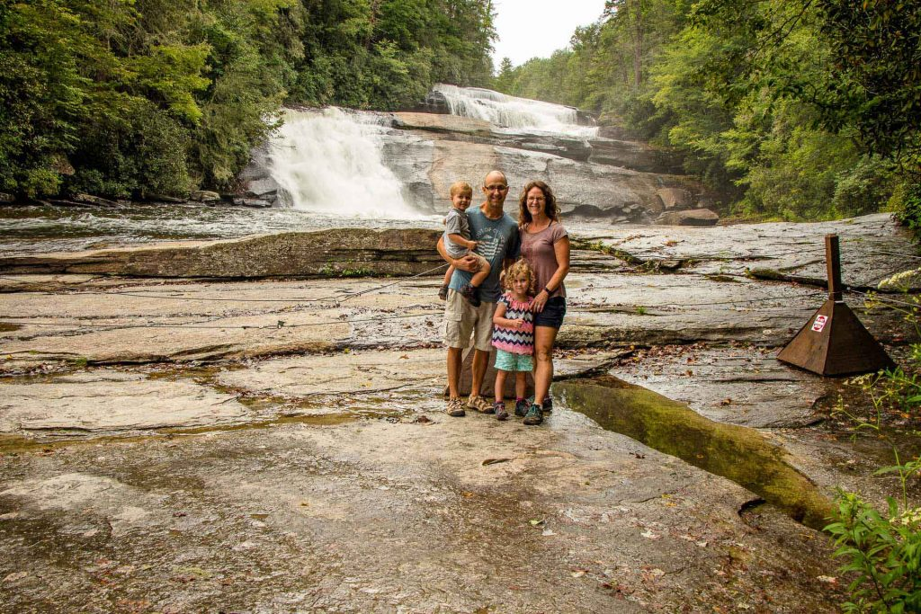Family Can Travel - Three Days of Hiking Around Asheville, NC with Kids - Dupont State Forest - Triple Falls Hike (7)