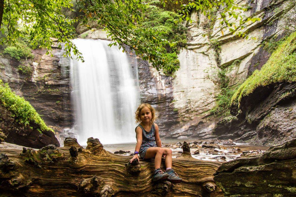 southern usa road trip ideas - Asheville, NC with Kids - Pisgah National Forest - Looking Glass Falls