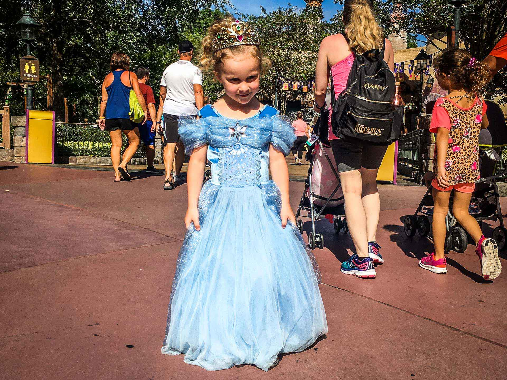 what to bring to Disney - a princess dress makes every little girl feel special at Disney World