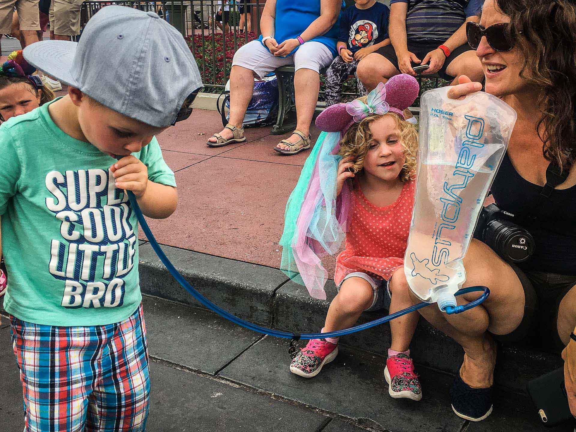 Hydration packs are a great idea to ensure your family has enough water for your day at Disney