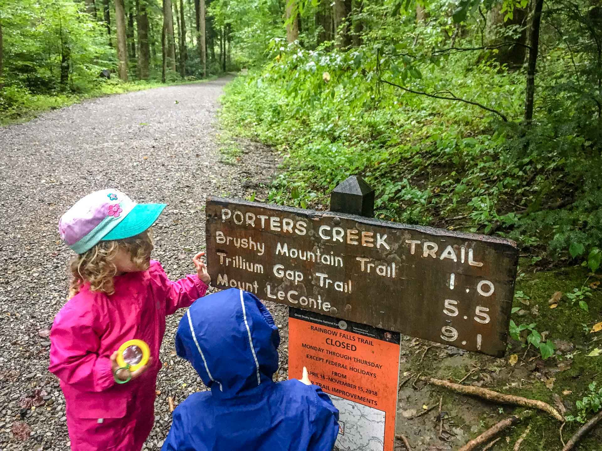 Porters Creek Trail with Kids