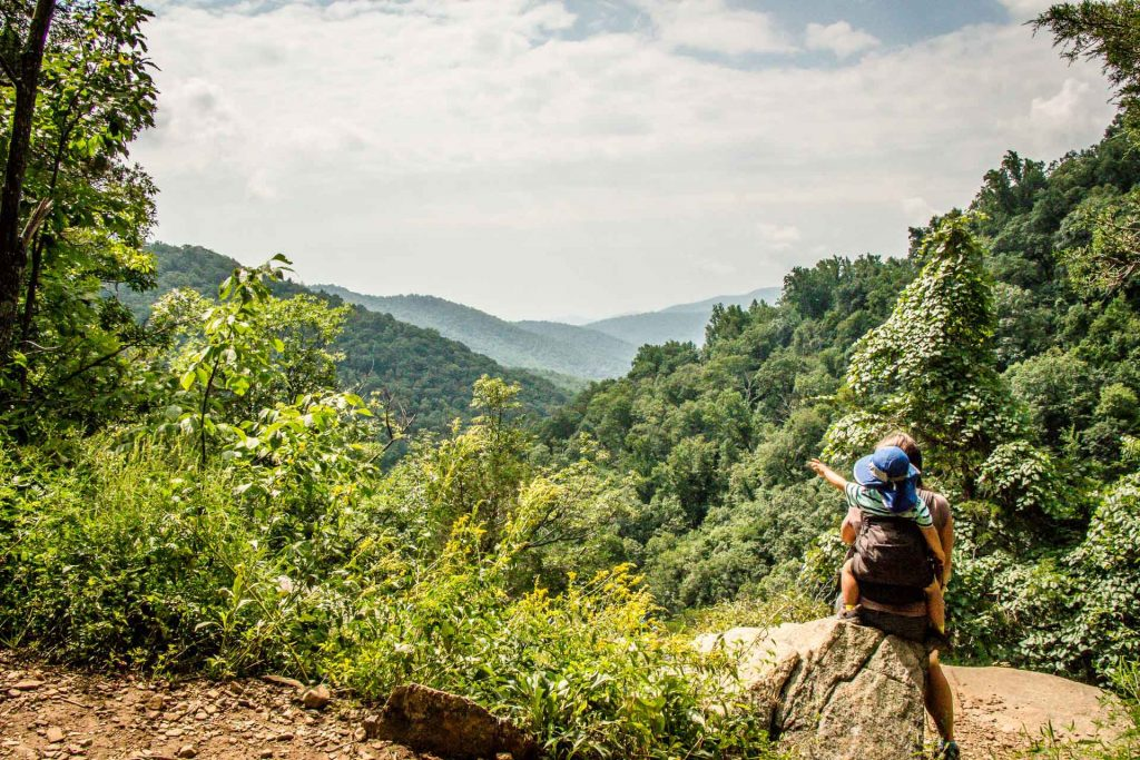 14 Day Appalachian Mountains road trip with kids - Shenandoah National Park - Whiteoak Canyon trail