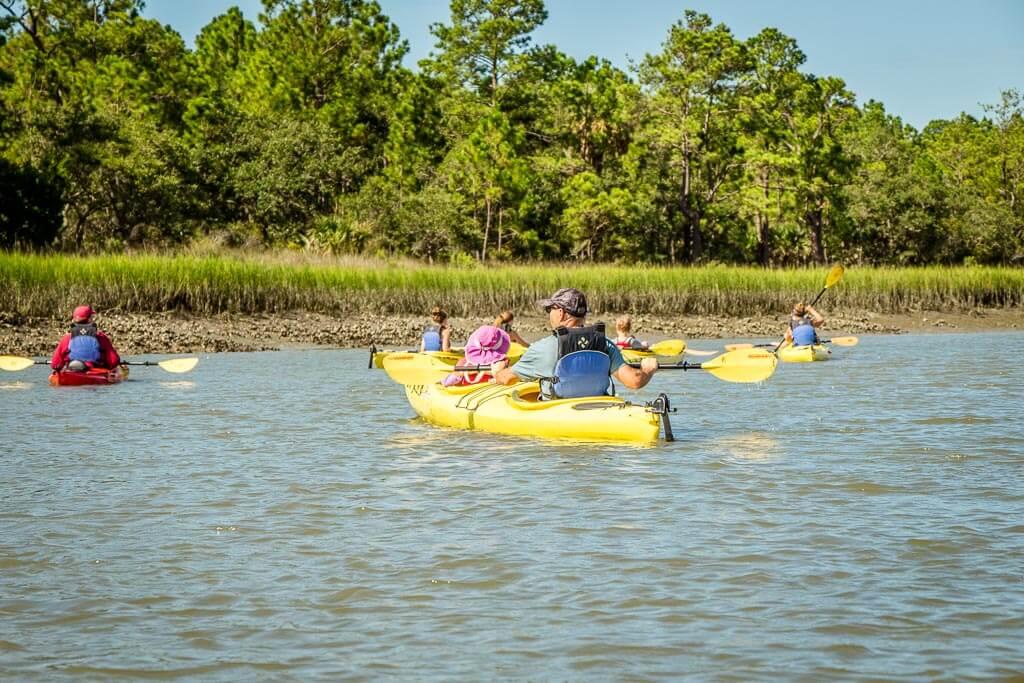 Charleston Outdoor Adventures Kayak tour with kids