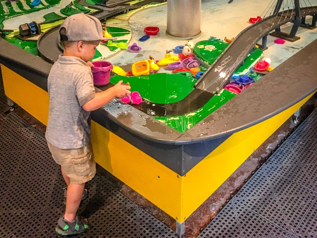 best things to do in Charleston with Kids - Water Table at the Children's Museum of the Lowcountry