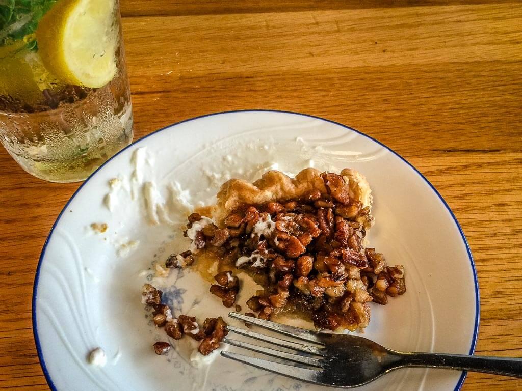Charleston South Carolina with Kids - Pecan Pie at Jestine's Kitchen