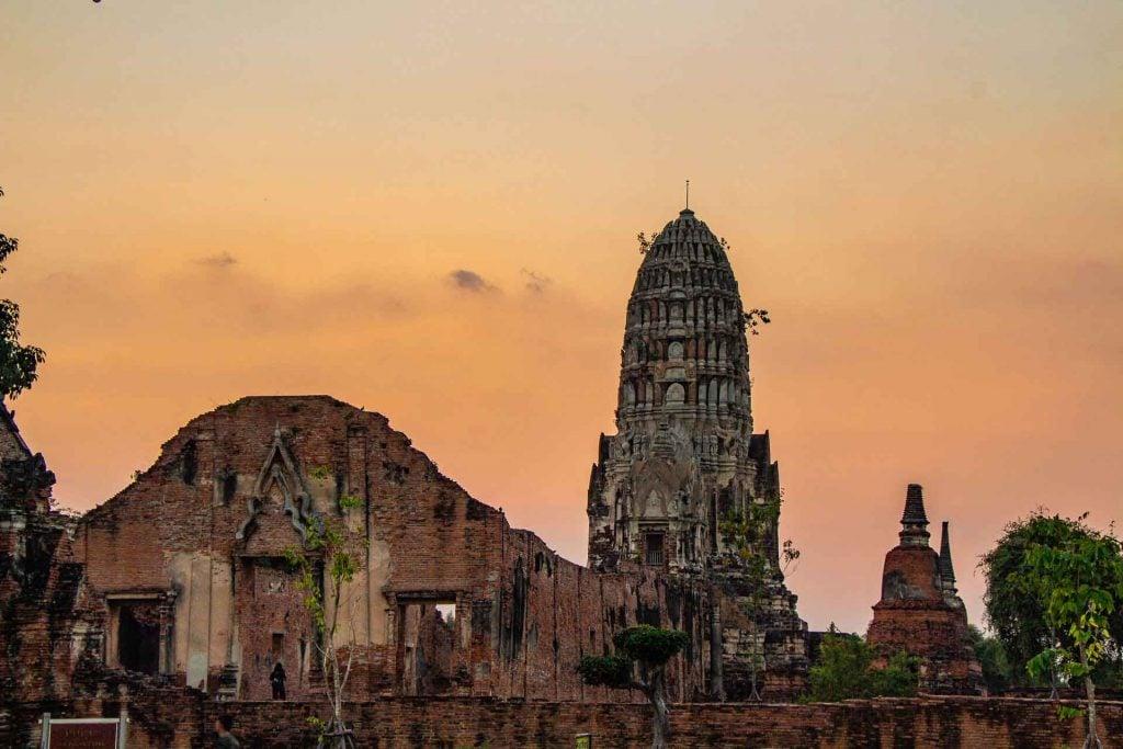 Temples in Ayutthaya Thailand