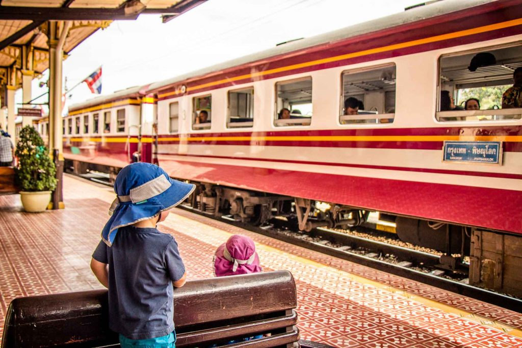 Ayutthaya Train Station with Kids