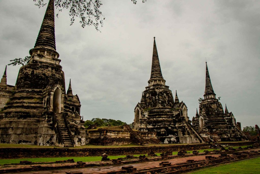 Wat Phra Si Sanphet in Ayutthaya Thailand with Kids