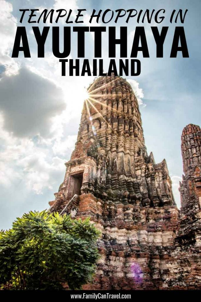 Temple hopping in Ayutthaya Thailand with Kids. Read which ones were worth the visit and how to get around with kids. || Thailand | Ayutthaya | Things to do | Travel with kids || #ayutthaya #ayutthayatemples #ayutthayathailand #thailandwithkids #thailanditinerary