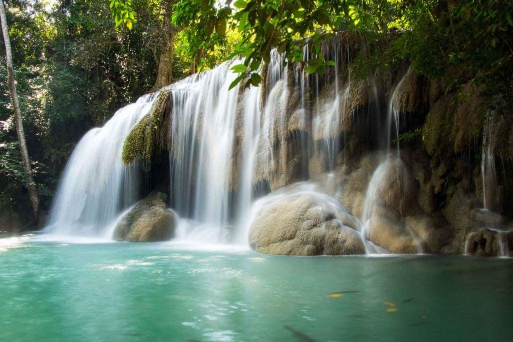 Waterfall at Kanchanaburi Thailand