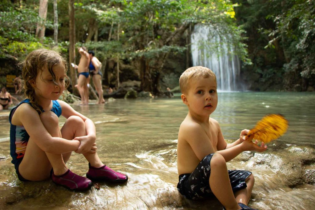 Erawan National Park With Kids