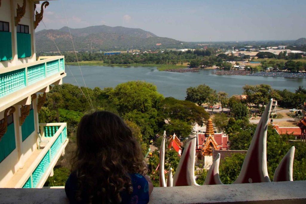 View from Wat Ban Tham Kanchanaburi Thailand