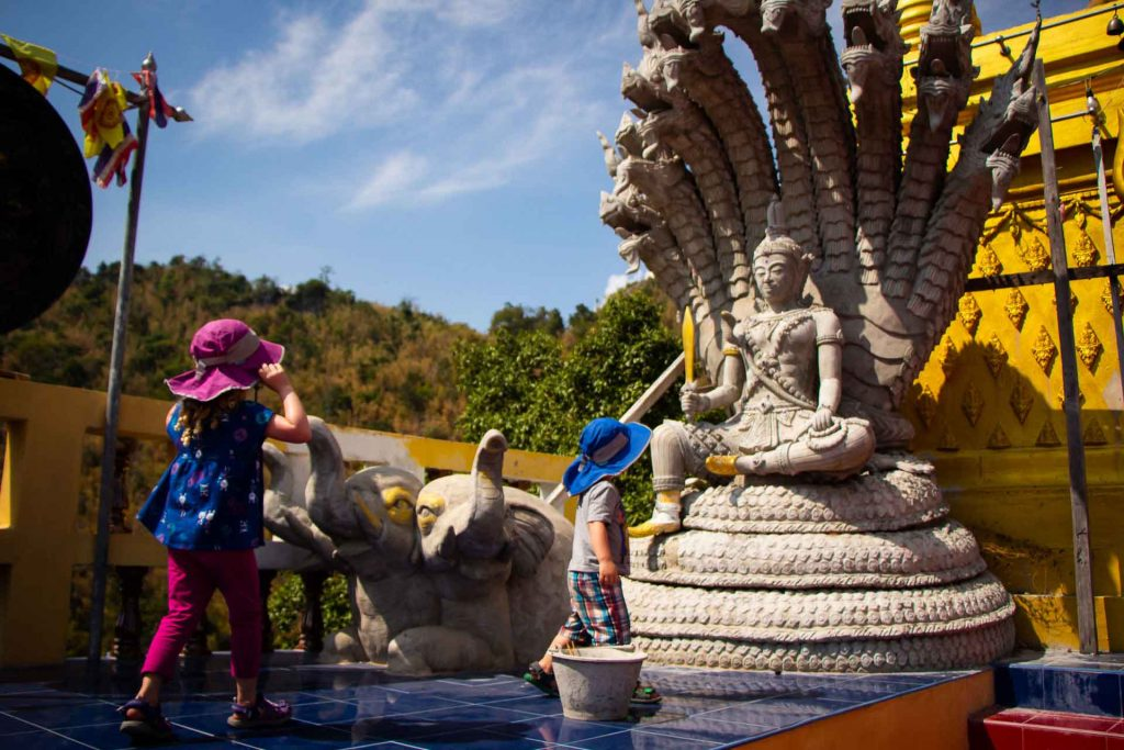 Wat Ban Tham in Kanchanaburi Thailand with Kids