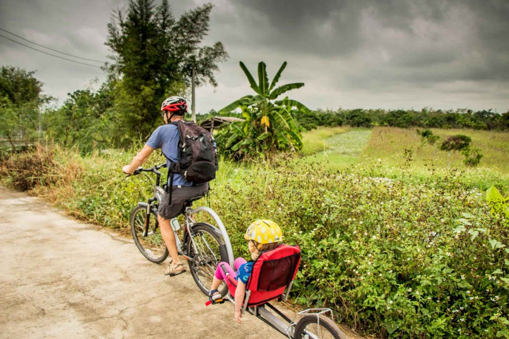 Biking in Chiang Mai Thailand with Kids