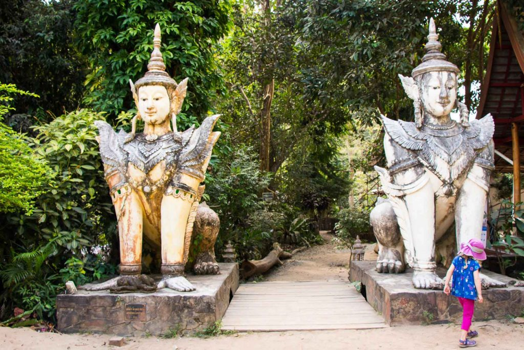 Wat Phrathat Doi Suthep with kids in Thailand