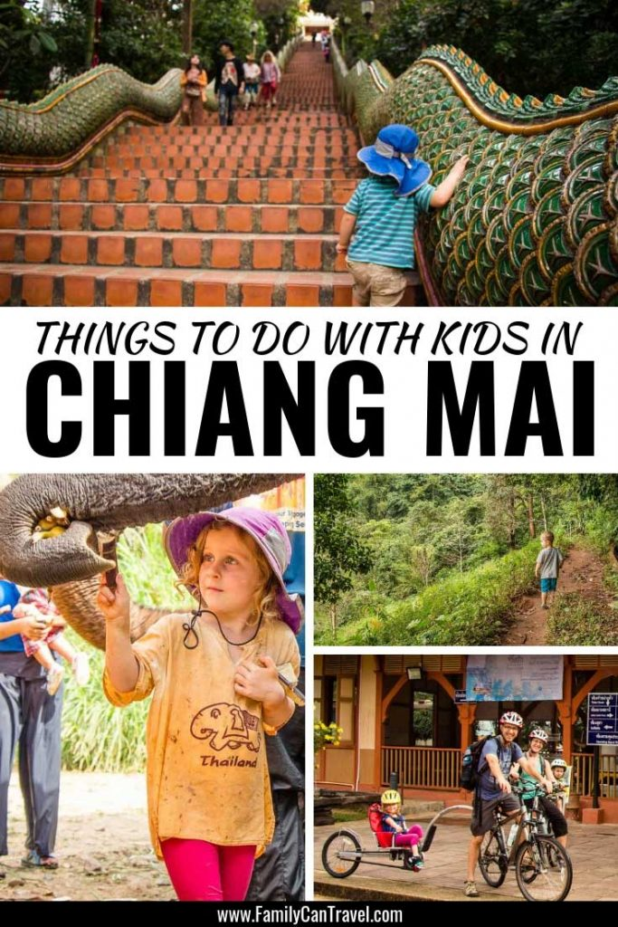 Here an itinerary for Chiang Mai with Kids || Thailand with Kids | Chaing Mai with Kids | Things to do in Chiang Mai | Elephant nature park | cycle tour in Chiang Mai | Chiang Mai Itinerary | Chiang mai with children