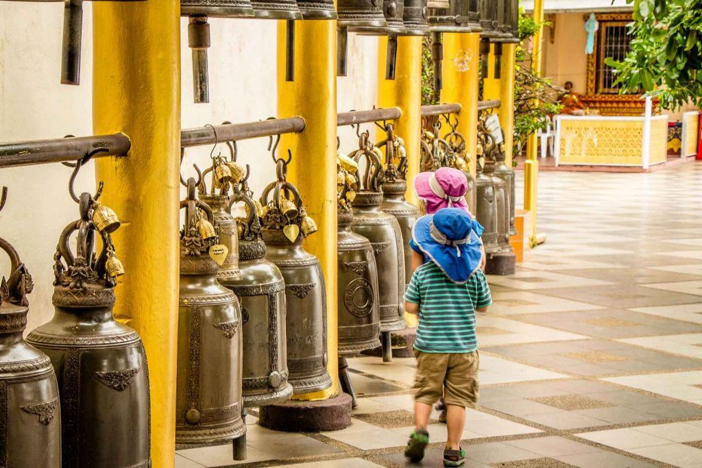 Wat Phrathat Doi Suthep in Chiang Mai Thailand with kids