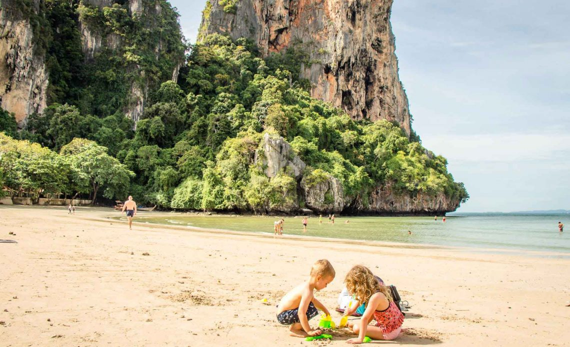 Railay Beach Thailand with Kids