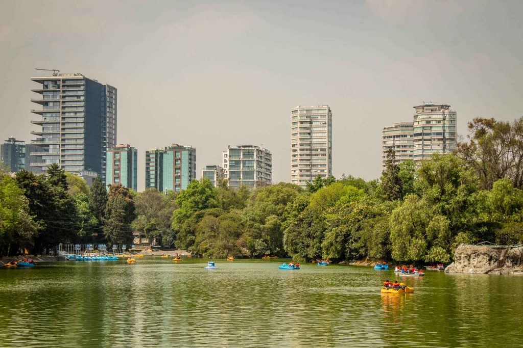 Lake in Bosque de Chapultepec Mexico City with Kids