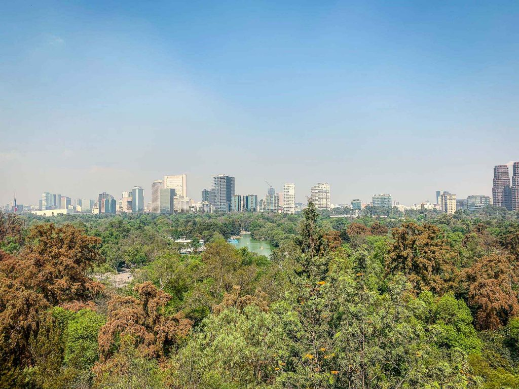 View from Castillo de Chapultepec