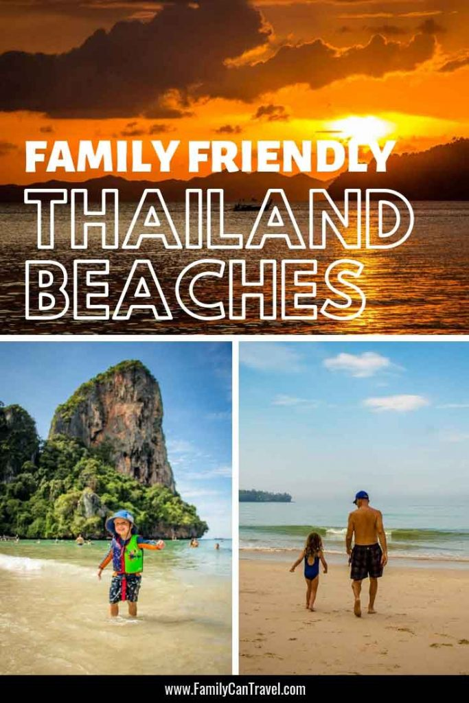 Don't miss these incredible Thailand beaches. This is a list of family-friendly beaches to visit in Thailand with kids. #thailand #thailandbeaches #railaybeach #phuket #hongisland