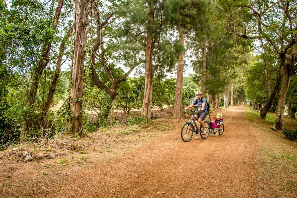 Cycling with kids in Chiang Mai Thailand