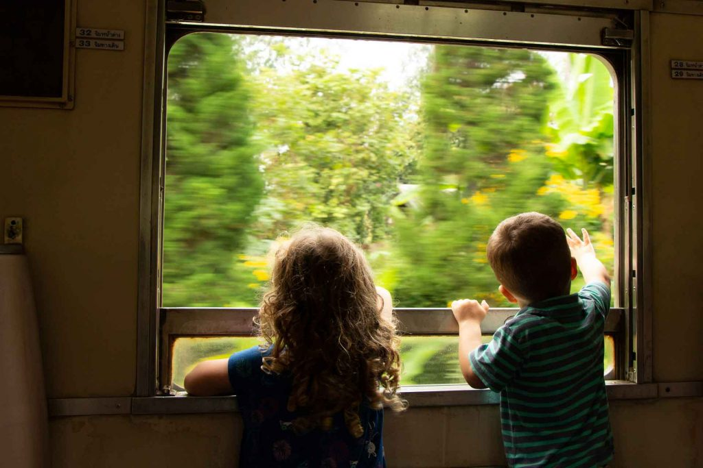 Train ride from Chiang Mai with Kids