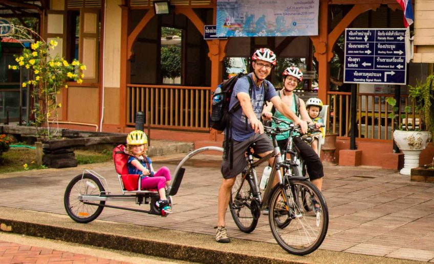 Family cycling tour in Chiang Mai Thailand