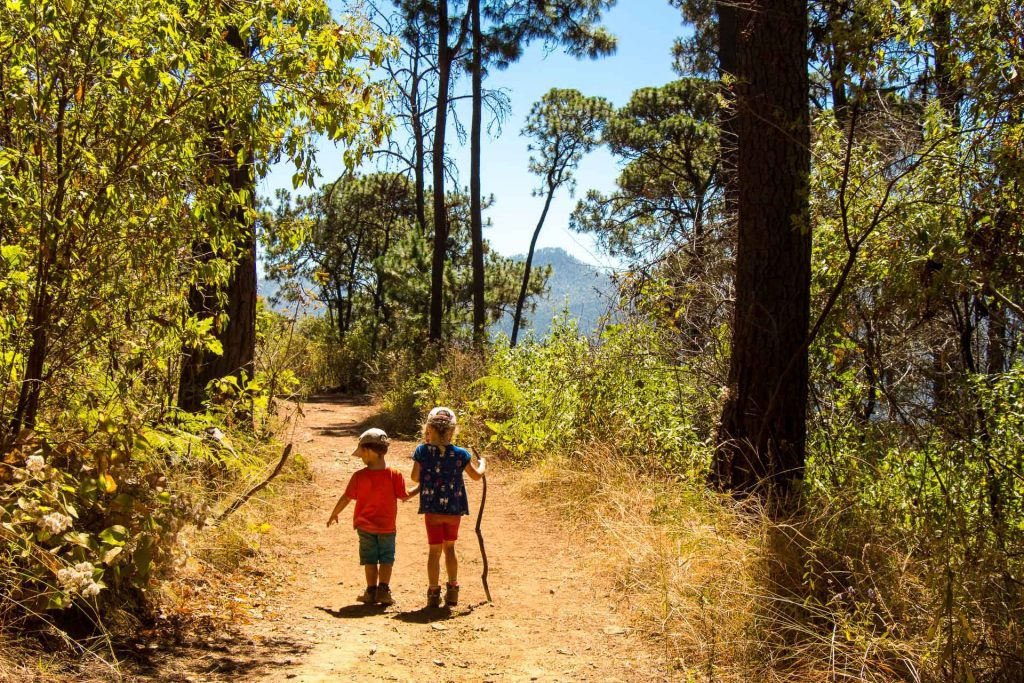Hiking La Torre with kids in Valle de Bravo Mexico