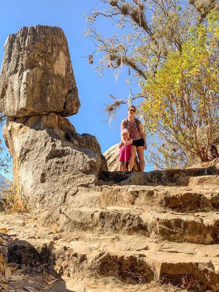 Hiking Mirador La Peña with kids in Valle de Bravo Mexico