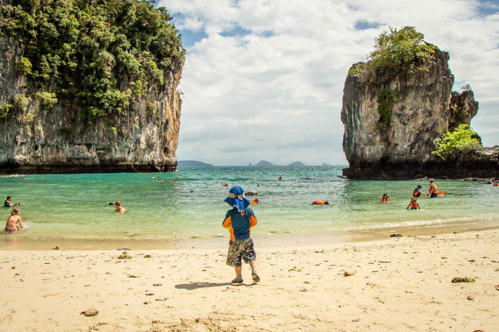 Hong Island Thailand with toddler