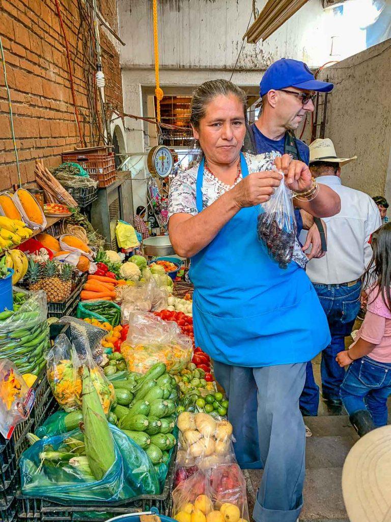 Market in Valle de Bravo Mexico