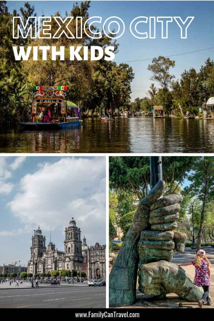 Best things to do in Mexico City with Kids. Here is a 5 day itinerary for Mexico City with kids including a great day trip! #mexicocity #mexico #travelwithkids