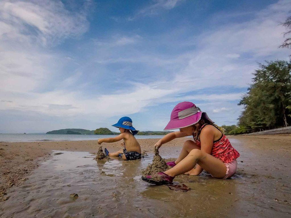 Noppharat Thara Beach Ao Nang Krabi Thailand with kids