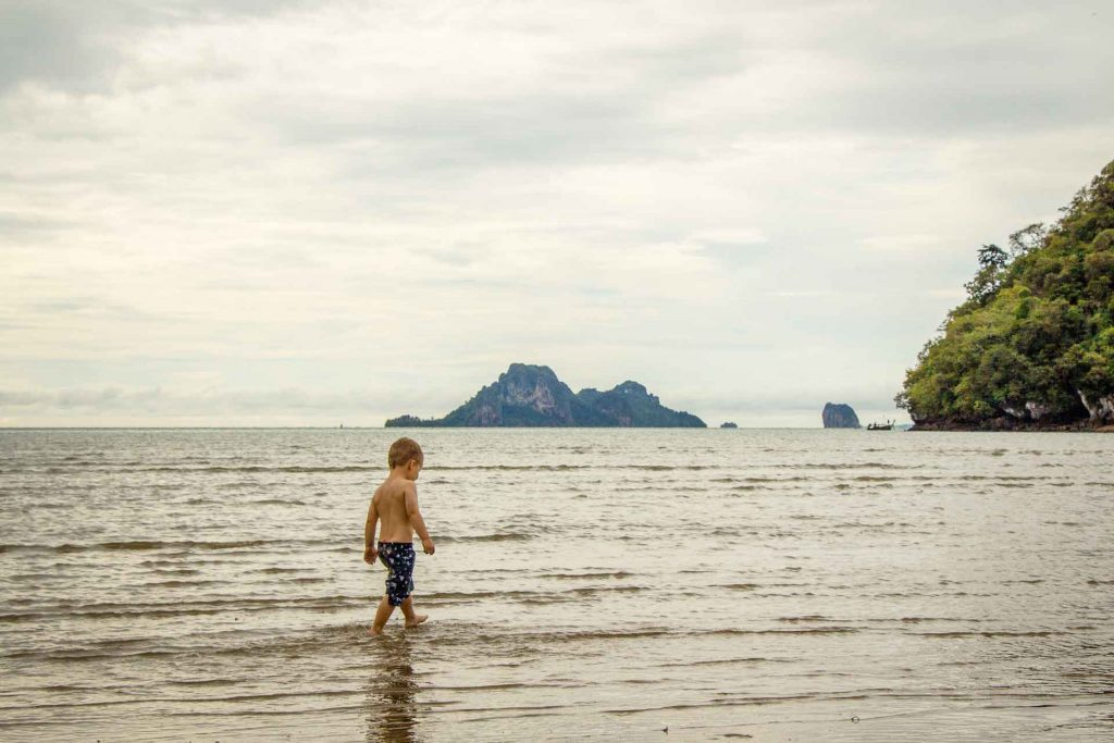 Toddler Friendly Noppharat Thara Beach Ao Nang Thailand